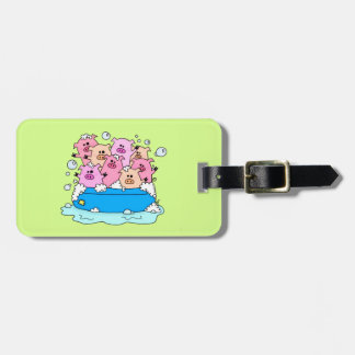 Cute Pig Luggage or Backpack Tag