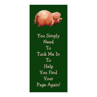 Cute Piggy BOOK MARK: Original Art: Rhyme Card