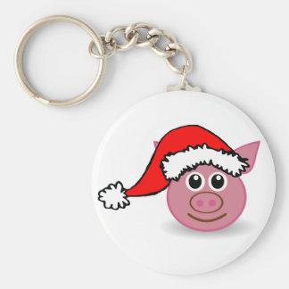 Cute piggy button Key Ring Basic Round Button Keychain