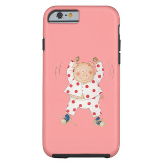 Cute Piggy Exercising Tough iPhone 6 Case