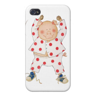 Cute Piggy Exercising iPhone 4/4S Cover