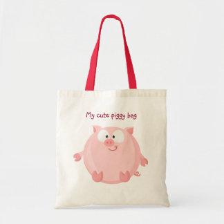 Cute piggy tote bag