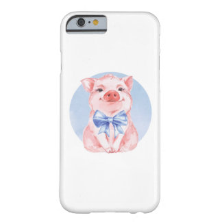 Cute piglet and bow barely there iPhone 6 case