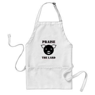 Cute Piglet Face Cartoon | Pig Praise the Lard Standard Apron