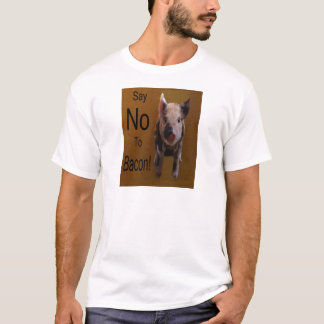 """Cute Piglet """"Say No To Bacon"""" T-Shirt"""