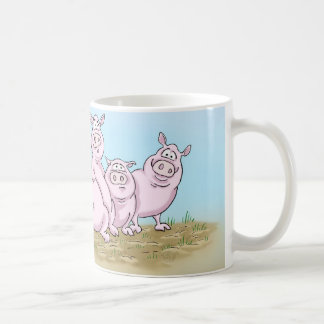 Cute Piglets and Butterfly Mug