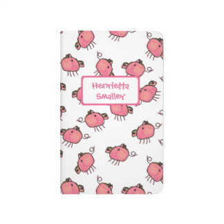 Cute Pigs Personalized Pocket Journal