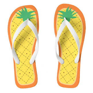 Cute Pineapple Funny Summer Tropical Fruit Style Flip Flops