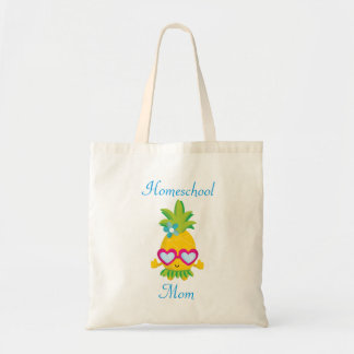Cute Pineapple Homeschool Mom Tote Bag
