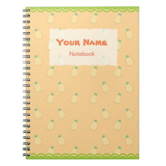 Cute Pineapple Pattern Notebook