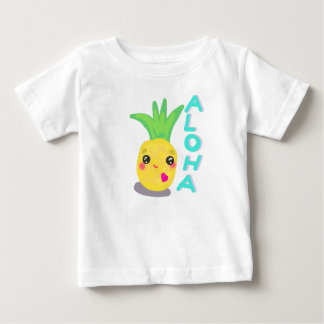 Cute Pineapple says Aloha Baby T-Shirt