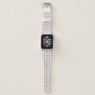 Cute Pineapple & Watermelon Doodle Pattern Apple Watch Band