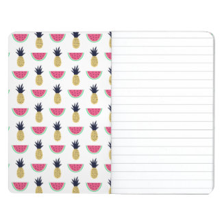 Cute Pineapple & Watermelon Doodle Pattern Journal