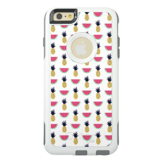 Cute Pineapple & Watermelon Doodle Pattern OtterBox iPhone 6/6s Plus Case