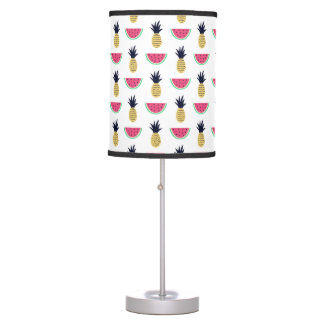 Cute Pineapple & Watermelon Doodle Pattern Table Lamp
