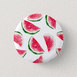 Cute Pineapple & Watermelon Pattern 1 Inch Round Button