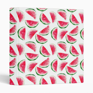 Cute Pineapple & Watermelon Pattern 3 Ring Binder