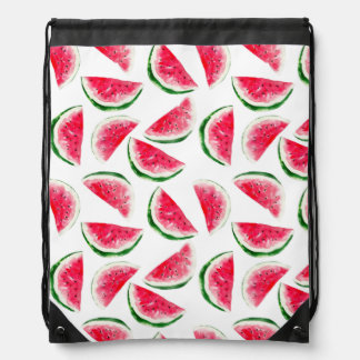 Cute Pineapple & Watermelon Pattern Drawstring Bag