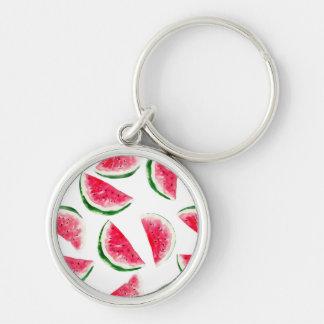 Cute Pineapple & Watermelon Pattern Keychain