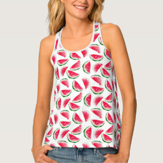 Cute Pineapple & Watermelon Pattern Tank Top