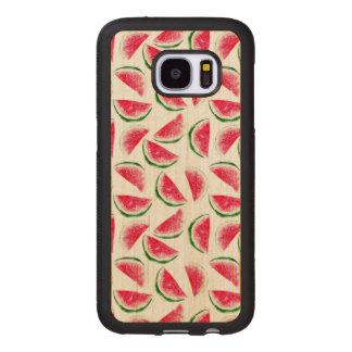 Cute Pineapple & Watermelon Pattern Wood Samsung Galaxy S7 Case