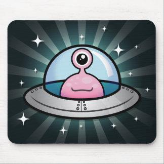 Cute Pink Alien Mousepad