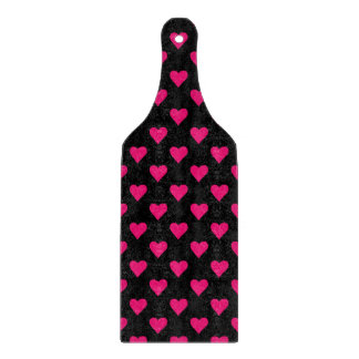 Cute Pink and Black Heart Pattern Cutting Board