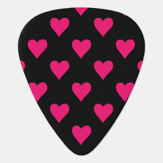 Cute Pink and Black Heart Pattern Guitar Pick
