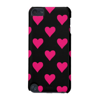 Cute Pink and Black Heart Pattern iPod Touch 5G Case
