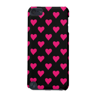 Cute Pink and Black Heart Pattern iPod Touch (5th Generation) Cover