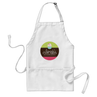 Cute Pink and Brown Cupcake Bakery Apron