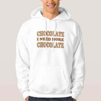 Cute Pink and Brown I Need Chocolate Hoodie