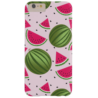 Cute pink and Green watermelon pattern Barely There iPhone 6 Plus Case