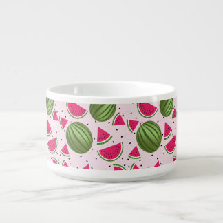 Cute pink and Green watermelon pattern Bowl