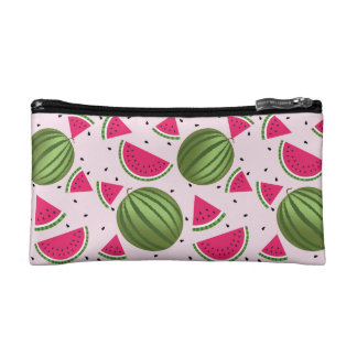 Cute pink and Green watermelon pattern Cosmetics Bags