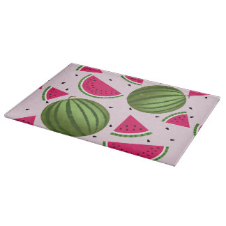 Cute pink and Green watermelon pattern Cutting Board