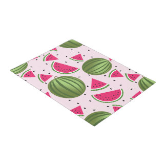 Cute pink and Green watermelon pattern Doormat