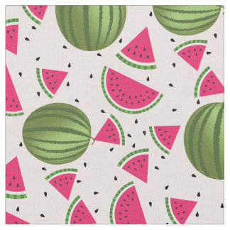 Cute pink and Green watermelon pattern Fabric
