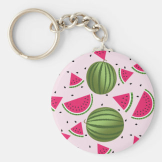 Cute pink and Green watermelon pattern Keychain