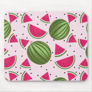Cute pink and Green watermelon pattern Mouse Pad