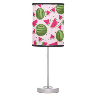 Cute pink and Green watermelon pattern Table Lamp