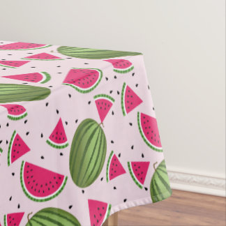 Cute pink and Green watermelon pattern Tablecloth