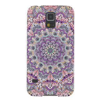 Cute pink and purple floral mandala galaxy s5 cases