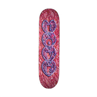 Cute Pink and Purple Love Hearts Skate Deck
