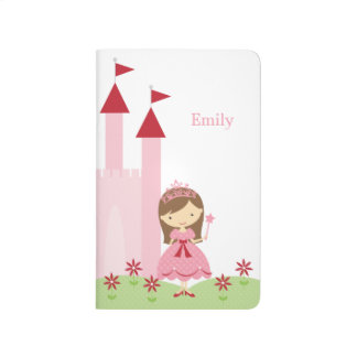 Cute Pink and Red Princess and Castle Journals