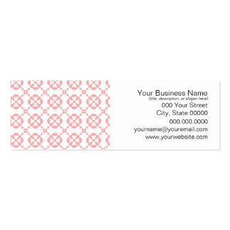 Cute Pink and White Girly Pattern Business Card Template