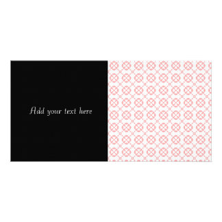 Cute Pink and White Girly Pattern Photo Greeting Card