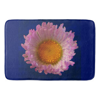 Cute Pink and Yellow Daisy Bath Mat