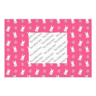 Cute pink baby bunny easter pattern art photo