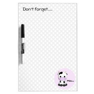 Cute pink baby cow cartoon dry kids erase board Dry-Erase board
